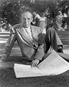 Aaron Copland looking over a score at Tanglewood Music Center in Massachusetts. Aaron Copland, Ode To Joy, Jazz Guitar, Music Composers, Colouring Pages, Classical Music, Musicals, Opera, Souvenirs