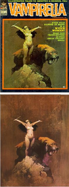 FRANK FRAZETTA - Vampriella #7 - Sept 1970 Warren Publications - cover by vampilore.co.uk - print by graphicpolicy.com