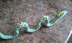 3D origami snake by akvees on Etsy