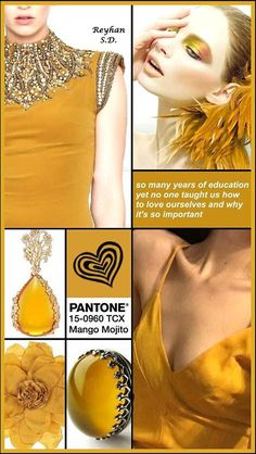 optimistic and warm, this peachy orange has those life-altering golden undertones that capture the essence of a timeless summertime. from home decor, to make up and fashion this vibrant and intimate orange-pink shade it's universally flattering. erik - Bing images Fashion Trends 2018, Fashion Tips, Color Trends, Color Combinations, Mango Mojito, Color Collage, Spring Summer Trends, Mellow Yellow, Summer Colors