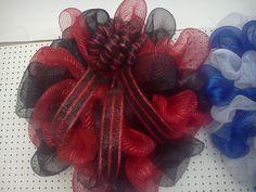 Georgia bulldog mesh wreath with bow
