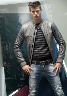 Felix Bujo for Antony Morato - Grey leather jacket #menswear