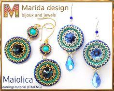 """Tutorial """"Maiolica"""" earrings (ITA/EN) (+ variation)"""
