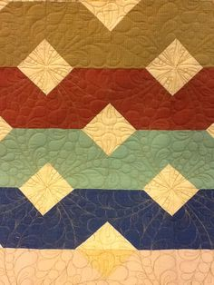 Quilt made from men's shirts.  Machine quilting by Sheri Zalar 309-698-0398