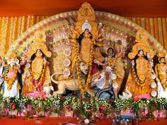 Statue of Godess Durga during durga pooja festival in India  #Pictures that will prove why #India is the most amazing place to #travel in the #World