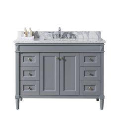 d vanity in grey with