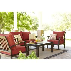My New Patio Set! Got It All On Clearance At Lowes For $426!! Allen  RothPatio ChairsPatio ...
