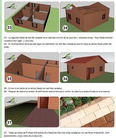 Bloques Ecologicos: Casa con ladrillos ecológicos