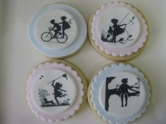 gorgeous silhouette cookies for a children's party or shower