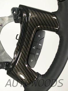Wood Leather OEM Steering Wheel for 2007 2008 2009 Accessory Trim Kit Chevrolet GMC Silverado Tahoe Suburban Avalanche Sierra Yukon Burl Peeling Flaking Chevy Spoke Spokes Cover Covers Black