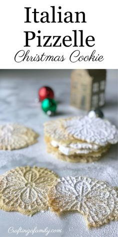 Classic Pizzelle Cookies are a traditional Italian cookie that is perfect for Christmas time. They are thin, crisp, buttery, and topped with a dusting of powdered sugar for sweetness. Easy for kids to help make we make, also a fun cookie for Thanksgiving Italian Christmas Cookies, Best Christmas Cookies, Christmas Desserts, Christmas Time, Christmas Treats, Italian Christmas Traditions, Christmas Foods, Christmas Drinks, Christmas 2017