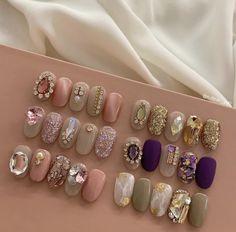 Korea Nail, Kawaii Nails, Diamond Nails, 3d Nail Art, Stylish Nails, Press On Nails, Gorgeous Nails, All Things Beauty, Hair And Nails