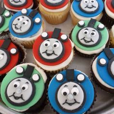 Thomas the Train cupcakes.
