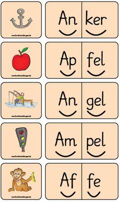 Buchstabe A, Lesen, Silbenwörter, Freiarbeit, Förderband, Blog, Inklusion, Förderschule,