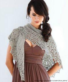вязание шали спицами - Самое интересное в блогах