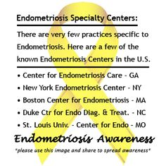 Here are a few of the known #Endometriosis Centers in the U.S. #EndoAware