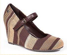 zapatos de cuña de ganchillo Sak