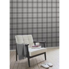 I Love Wallpaper™ Tartan Wallpaper Soft Grey / Charcoal - I Love Wallpaper™ from I love wallpaper UK Hallway Wallpaper, Wallpaper Uk, Feature Wallpaper, Pattern Wallpaper, Grey Tartan Wallpaper, Retro Home Decor, Home Accessories, Living Room Decor, Charcoal