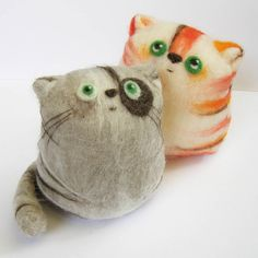 cute felt cats