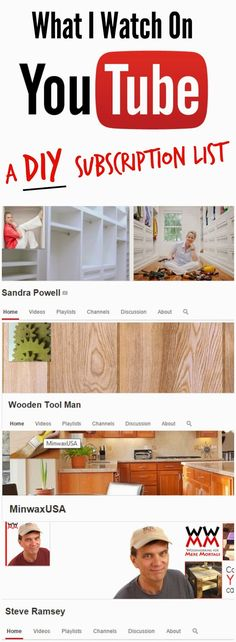 Love YouTube and DIY? I share my list of my favorite DIY channels to subscribe to.