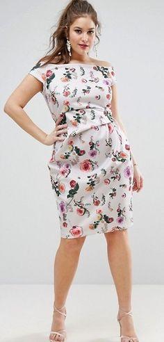 Plus Size Bardot Dress