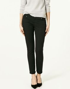 looking for plain black pants like these from zara