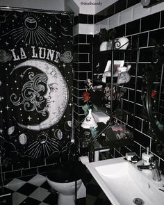 Fabulous Spooky or Gothic Styled Toilet - ✖Home sweet home✖ - Gothic Bed, Gothic Room, Gothic House, Victorian Gothic, Dark Home Decor, Goth Home Decor, Boho Decor, Gothic Bathroom Decor, Home Sweet Hell