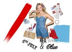 """""""~4th July~"""" by mimiedith on Polyvore featuring Crate and Barrel, Pistola, Vince Camuto, Christian Dior, Lime Crime, New Look, Vanessa Mooney, In Your Dreams, redwhiteandblue and july4th"""