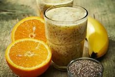 7 Smoothie Recipes to Lower Your Cholesterol : orange smoothie with chia seeds Diabetic Smoothies, Smoothie Recipes With Yogurt, Yogurt Smoothies, Apple Smoothies, Weight Loss Smoothies, Juice Recipes, Green Smoothies, Chia Seed Smoothie, Smoothie Prep