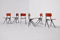 Designer: Marko design team Type: Industrial chair Manufacturer: Marko Year: 1970 Country: Holland Materials: Pagwood, metal Height: 78 cm Width: 42 cm Depth: 48 cm