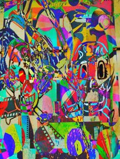 "Saatchi Art Artist Art and Soul Mamma; New Media, ""Neon Skull"" #art"