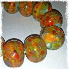 Bohemian Sun 9 Beautiful Lampwork Beads