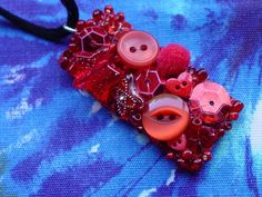 Scarlet Dream Pendant  A Red Upcycled Beaded Pendant by Pookledo, £15.00