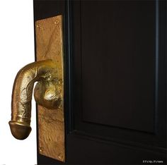 Here's something you don't see everyday: Cast Bronze Penis Doorpulls