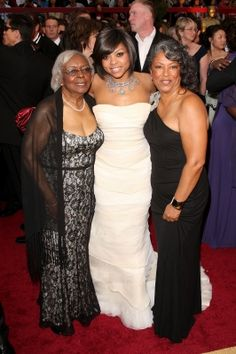 Taraji P. Henson with her mother and grandmother arrive at the 81st Annual Academy Awards