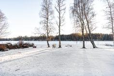 Taloyhtiö on aivan Lippajärven rannassa. Snow, Outdoor, Outdoors, The Great Outdoors, Eyes, Let It Snow