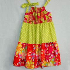 How to sew a Tiered Pillowcase Dress. Sewing tutorial.