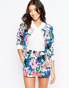 Image 1 of Traffic People Love Climate Bomber Jacket In Floral Print