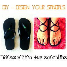 cómo transformar unas sandalias de playa en unas fantásticas sandalias para un ...