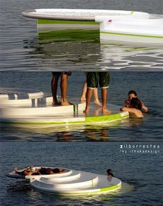 Floating deck ~ Definitely a need for the lake!its like weres the deck? o its on the other side of the lake. Lake Toys, Josie Loves, My Pool, Cool Inventions, Lake Life, Outdoor Fun, Cool Gadgets, The Great Outdoors, Summer Fun