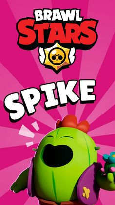 Brawl stars Spike Wallpaper Video Game Posters, Star Character, Star Background, Star Wallpaper, Clash Royale, Star Art, Games For Kids, Stars, Cool Stuff