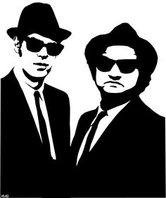Blues Brothers stencil template