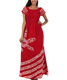 Look what I found on #zulily! Red Paisley Maxi Dress by S Apparel #zulilyfinds