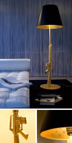 Phillipe Starck M16 Rifle Floor Lamp. How bad ass is this?