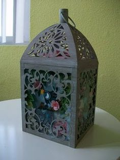 all paper working bird cage by Brittney Lee