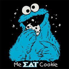 Greek Cookie Monster Shirt #Greek #Sorority #Clothing #Screenprinted #SDT #SigmaDeltaTau #SigDelt