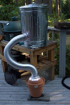 Cold smoker BBQ/Grill/Smoker Homemade smoker, Smoke bbq y Bbq smoke cooking homemade - Smoker Cooking Build A Smoker, Diy Smoker, Homemade Smoker, Homemade Bbq, Outdoor Oven, Outdoor Cooking, Barbecue Grill, Grilling, Receta Bbq