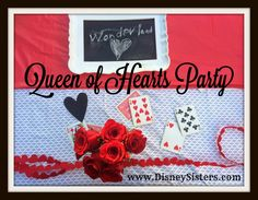 Queen of Hearts Party: Celebrating Our #DisneySide with a Valentine's Day Party perfect for our favorite #Disney Villain! Great inspiration to host your own Alice in Wonderland Party or Mad Tea Party!  | www.DisneySisters.com | #QueenOfHearts