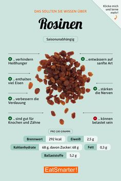 Raisins - * healthy eating and nutrition tips - # nutrition # nutrition . - Raisins – * healthy food and nutrition tips – # Nutrition tips - Nutrition Holistique, Nutrition Activities, Holistic Nutrition, Nutrition Plans, Potato Nutrition, Nutrition Education, Nutrition Sportive, Food Facts, Eat Smarter