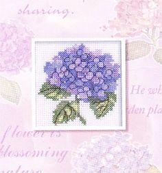 hortensia en punto de cruz | Aprender manualidades es facilisimo.com
